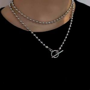 925 toggle ball chain necklace